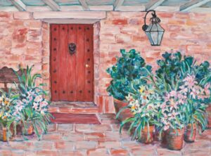 Flora L. Thornton's Carolwood Front Door
