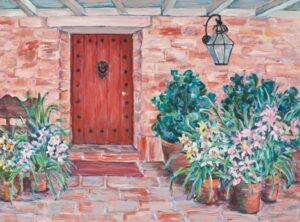Flora L. Thornton's Carolwood Front Door