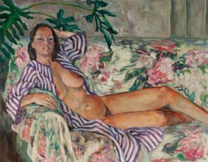 Flora L. Thornton's Nude in Purple Stripes