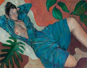 Flora L. Thornton's Woman in Teal Dress