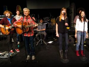 USC Thornton Students rehearse for a performance with the Beach Boys. (Photo: Dietmar Quistorf)