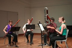 Judith Farmer, Robert Curl, Paul Curtis, and Dana Jackson perform at the 2013 International Double Reed Conference