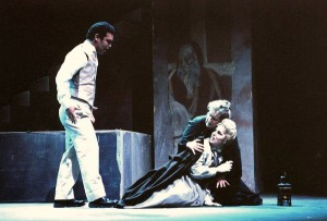 "A still from the 1999 production of ""Where Angels Fear to Tread,"" featuring Arturo Chacón, Mona Potter and Toni Amanda Stefano. (Photo: Jesse Hellman)"