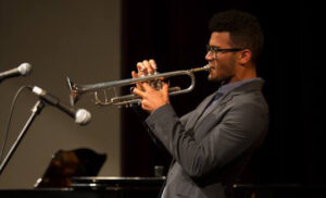 JJ Kirkpatricks, the USC Thornton Jazz Honors Combo trumpeter.
