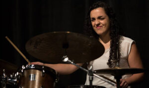 Ana Barreiro, the USC Thornton Jazz HOnors Combo drummer, was honored with two soloist awards.