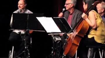 ARTL program director Ken Foster interviewed celebrated strings ensemble Kronos Quartet as a part of the symposium's programming.