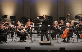 The Los Angeles Chamber Orchestra performing.
