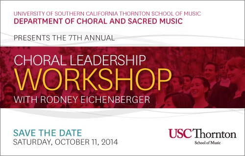 Choral Leadership Workshop Postcard