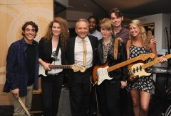 From L to R:  Daniel Vanchieri, Devon Eisenbarger, Jimmie Vaughan, Corbin Jones, Livia Slingerland, Nolan Frank, Katie Skene.