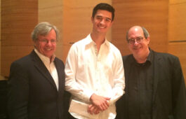 Pictured L to R: Hermitage Executive Director Bruce E. Rodgers, Thomas Kotcheff, Aspen Music Festival and School Music Director Robert Spano.