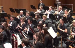 The USC Thornton Wind Ensemble performs at Bovard Auditorium on Sunday, September 28.