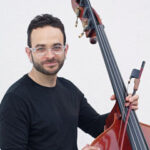 Photo of David Allen Moore with double bass