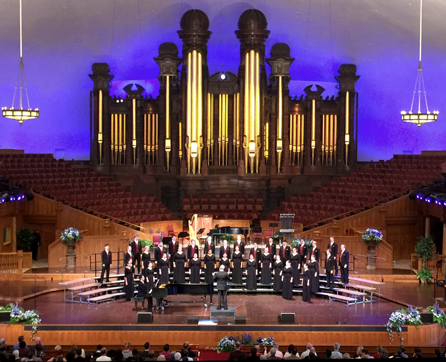 The USC Thornton Chamber Singers performed at the Mormon Tabernacle in Salt Lake City.