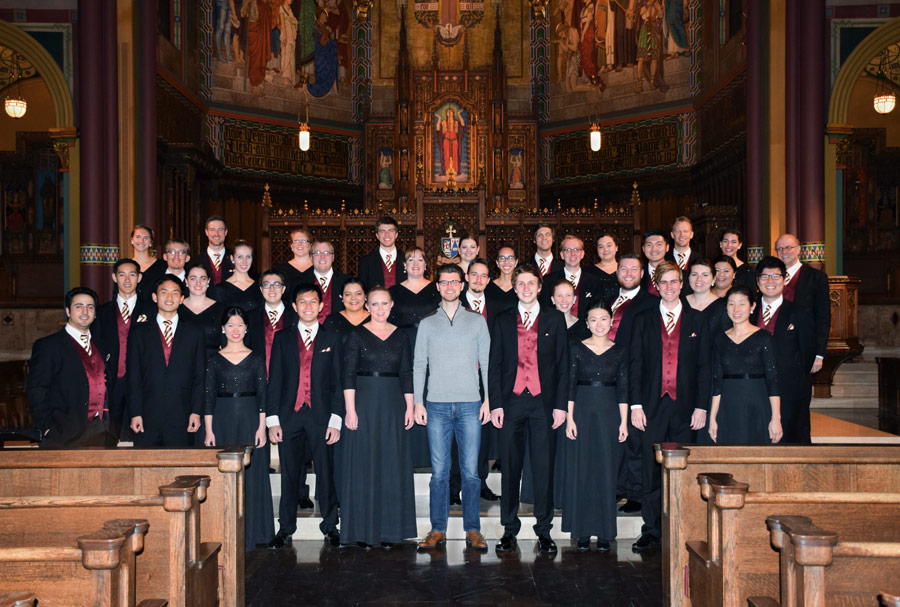 The Chamber Singers also performed at the Cathedral of the Madeleine as part of the ACDA conference.