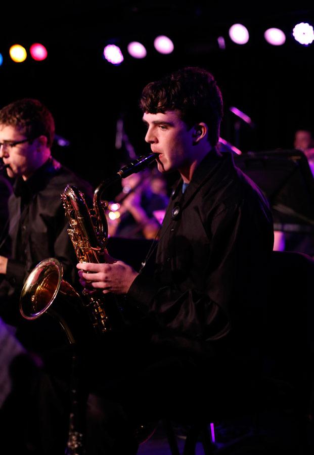 Spencer Brodhead (BM '15, jazz studies). (Photo/Danny Wirick)