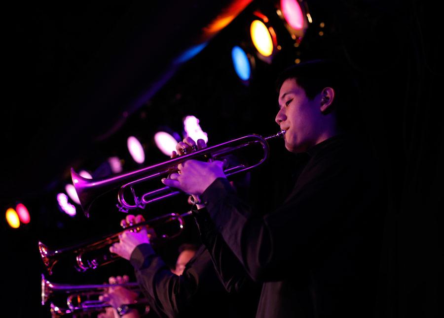 Edward Evans (BM '18, jazz studies). (Photo/Danny Wirick)
