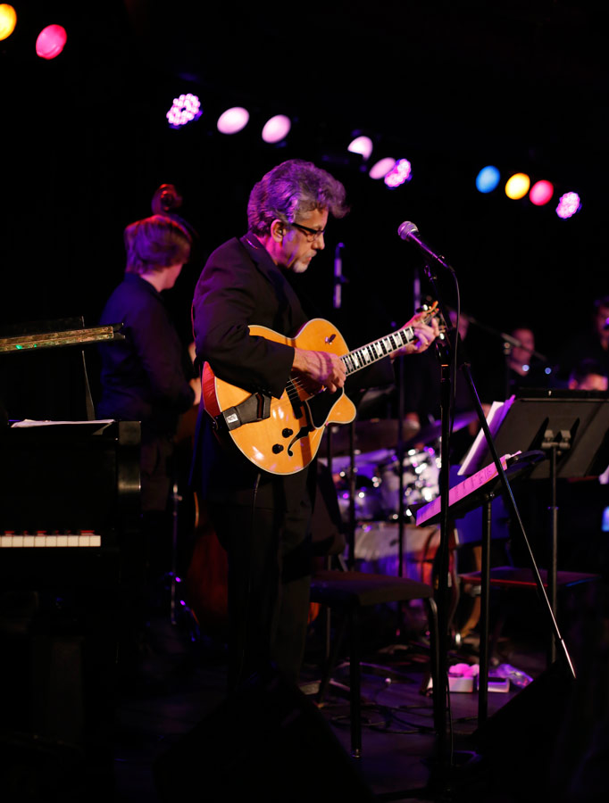 Frank Potenza, chair of the department of Studio/Jazz Guitar, sat in with the band. (Photo/Danny Wirick)