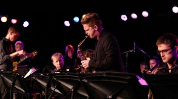 Jazz Studies masters student Alex Hahn. (Photo/Danny Wirick)