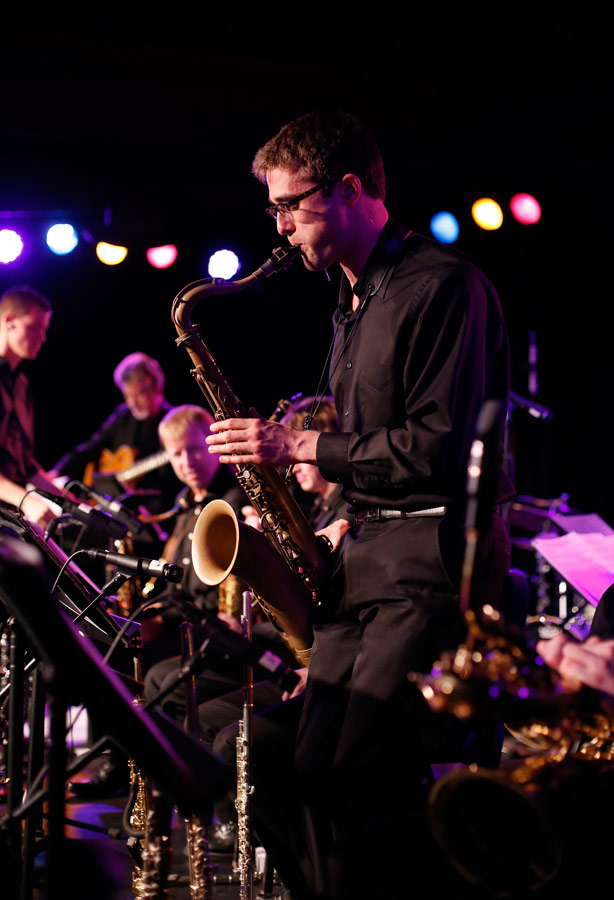Jazz Studies doctoral candidate Ramsey Castaneda. (Photo/Danny Wirick)