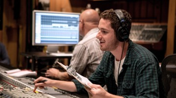 Music Production students at Henson Studios (Photo/Andrew Garver)