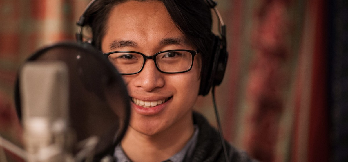 Music Production student at Henson Studios (Photo/Andrew Garver)