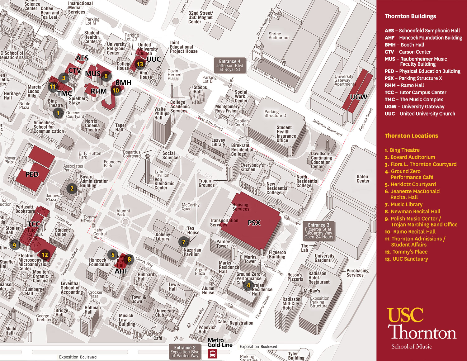 Usc Parking Map Visit Thornton | USC Thornton School of Music
