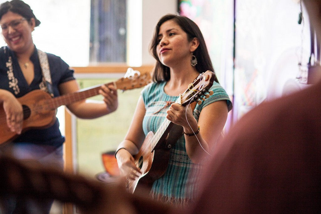 Angela Flores has been leading events at the Eastside Café for the past 10 years. (Photo by Michael Becerra/Elefante Collective)