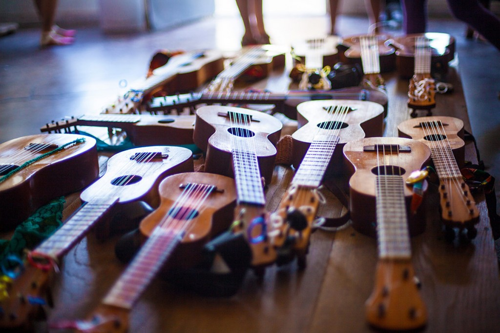 The San Jarocho collective owns a number of jaranas by master luthier Cesar Castro. (Photo by Michael Becerra/Elefante Collective)