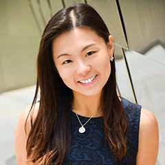 Jenny Wong pictured outdoors smiling to the camera