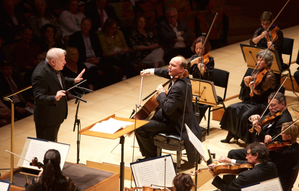 On May 14, Norwegian cellist Truls Mørk performed Elgar's Cello Concerto with the LA Phil, under Leonard Slatkin. (Photo by Dario Griffin)