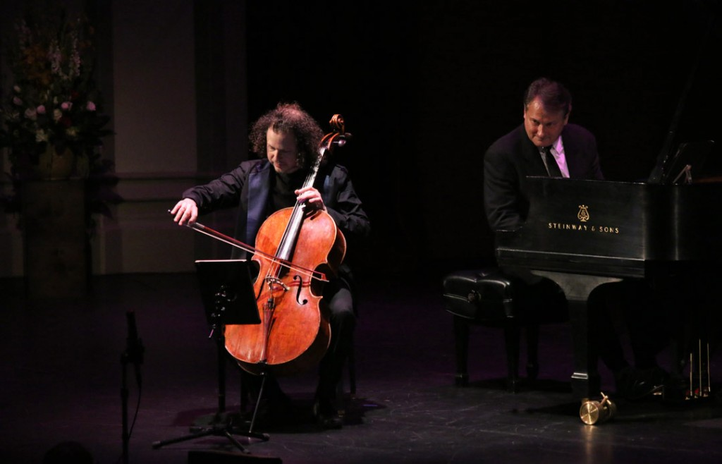 The May 20th Evening Recital at USC's Bovard Auditorium featured cellist Matt Haimovitz with pianist Christopher O'Riley. (Photo by Daniel Anderson/USC)