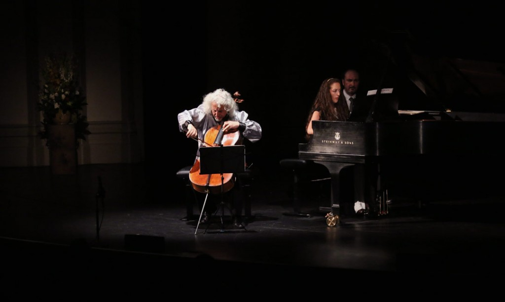 The second half of the May 20th Evening Recital featured cellist Mischa Maisky with pianist Lily Maisky. (Photo by Daniel Anderson/USC)