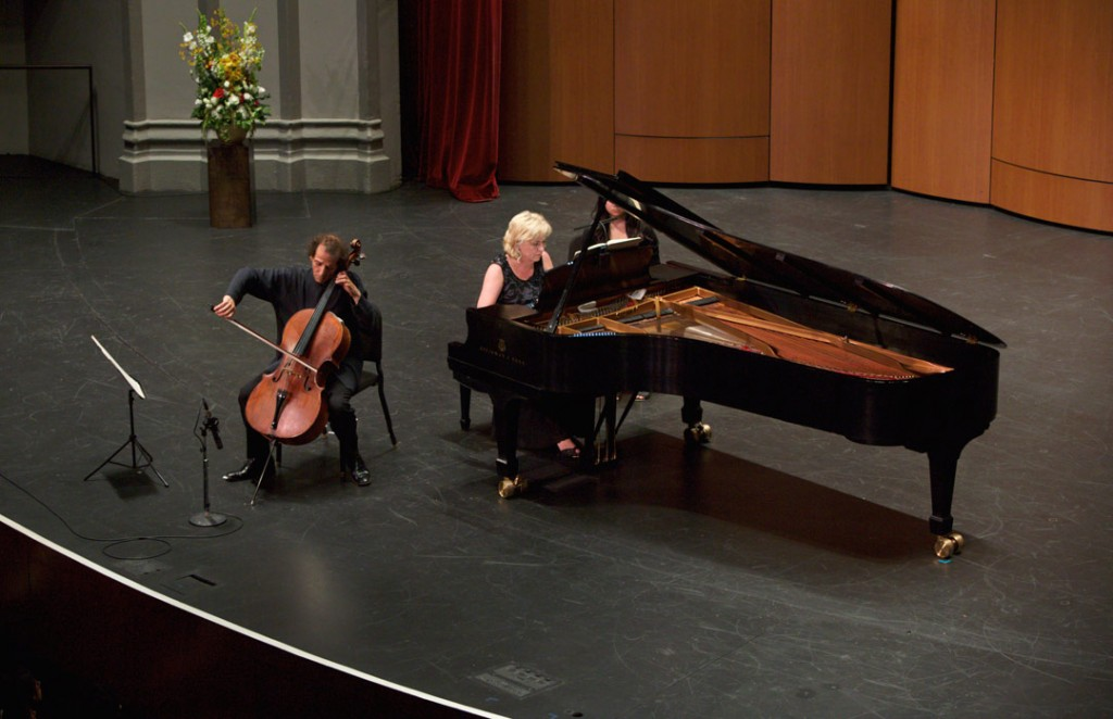 On May 22, the Piatigorsky International Cello Festival closed with a concert featuring cellist Colin Carr and pianist Bernadine Blaha performing Beethoven's Sonata in A Major, Op. 69. (Photo by Dario Griffin/USC)