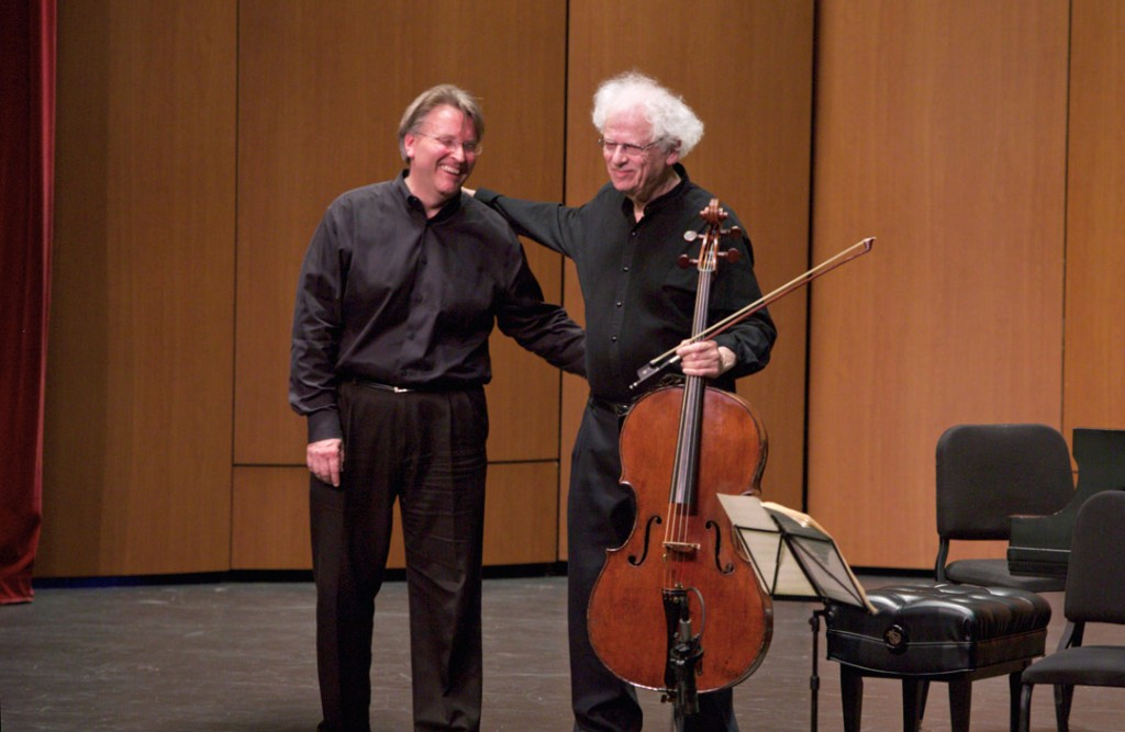 The 2016 Piatigorsky International Cello Festival closed with a May 22nd concert which featured cellist Laurence Lesser and pianist Kevin Fitz-Gerald. (Photo by Dario Griffin/USC)