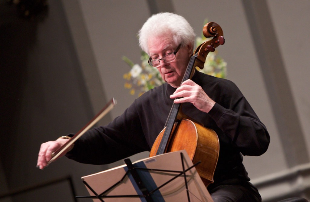 On May 22, the Piatigorsky International Cello Festival closed with a concert featuring cellist Colin Carr and pianist Kevin Fitz-Gerald performing Beethoven's Sonata in F Major, Op. 5, No. 1. (Photo by Dario Griffin/USC)