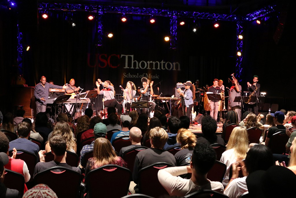 Greg Phillinganes brought an all-star band to campus.