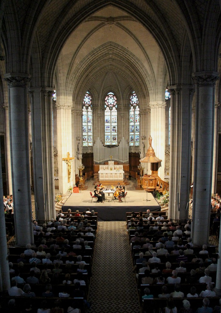 The Église de Missillac was one of several local venues where the quartet performed to appreciative audiences.