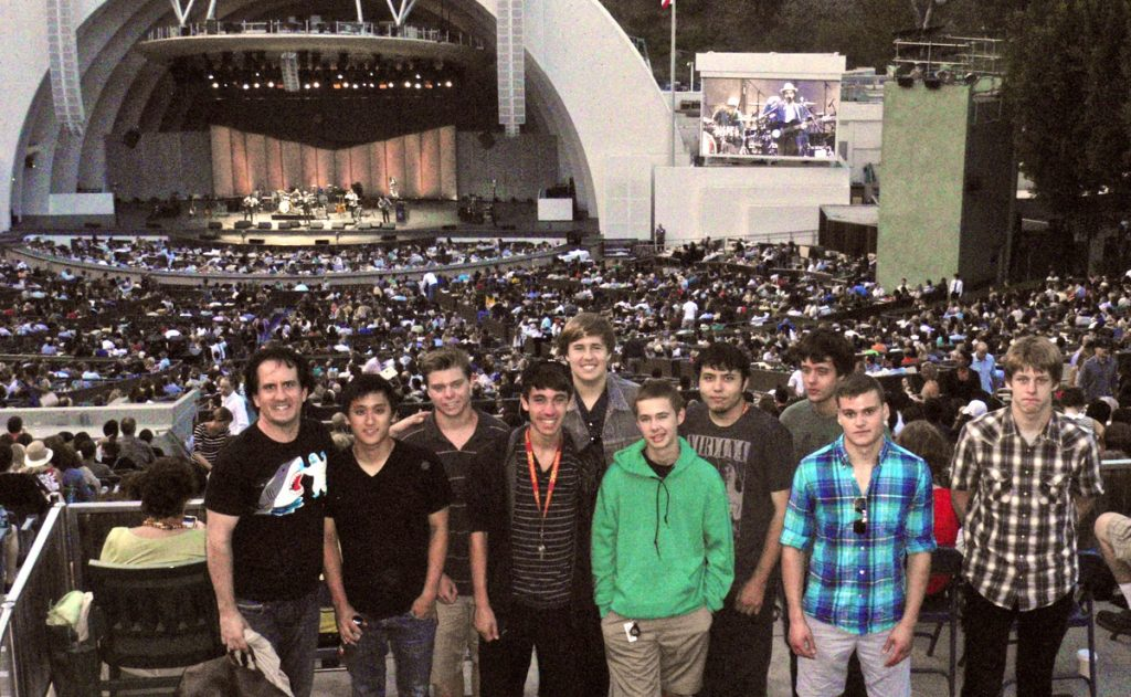 The 2013 USC Summer Guitar Seminar on their field trip to The Hollywood Bowl.