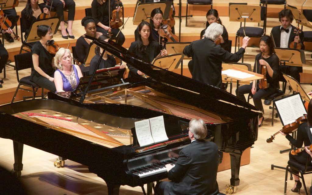 The January 22nd program kicked off with Mozart's Concerto for Two Pianos, featuring Bernadene Blaha and Kevin Fitz-Gerald.