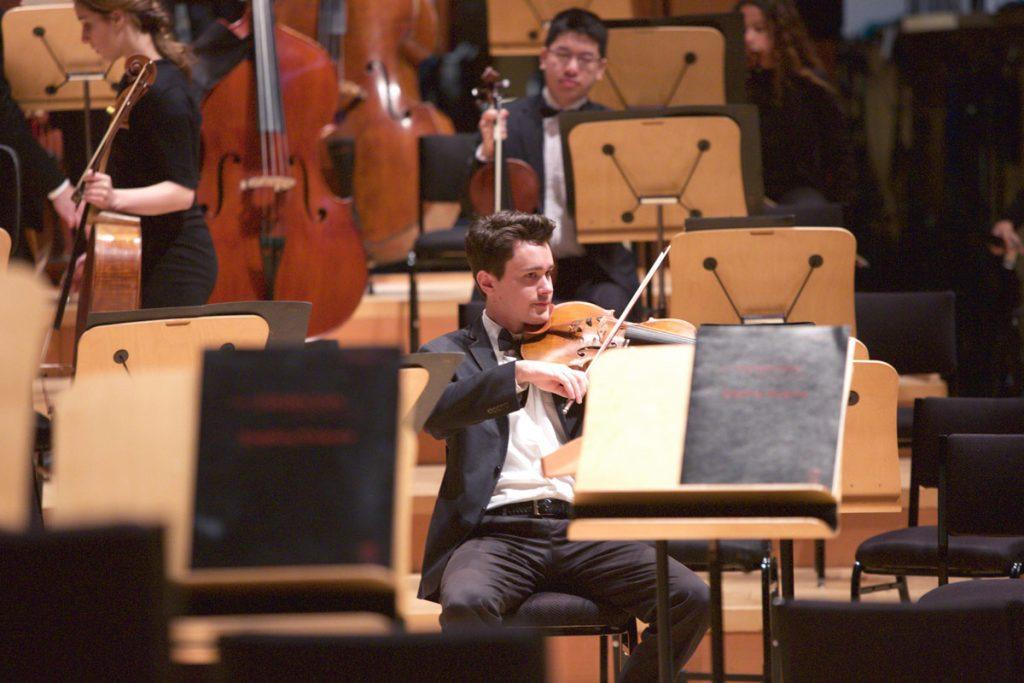 A viola takes his place.