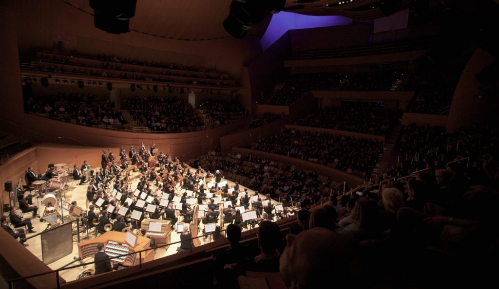 The USC Thornton Symphony at Walt Disney Concert Hall.
