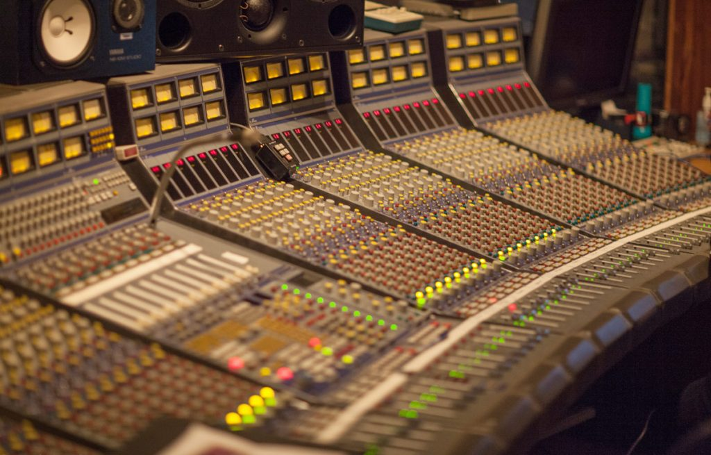 The massive Focusrite console.