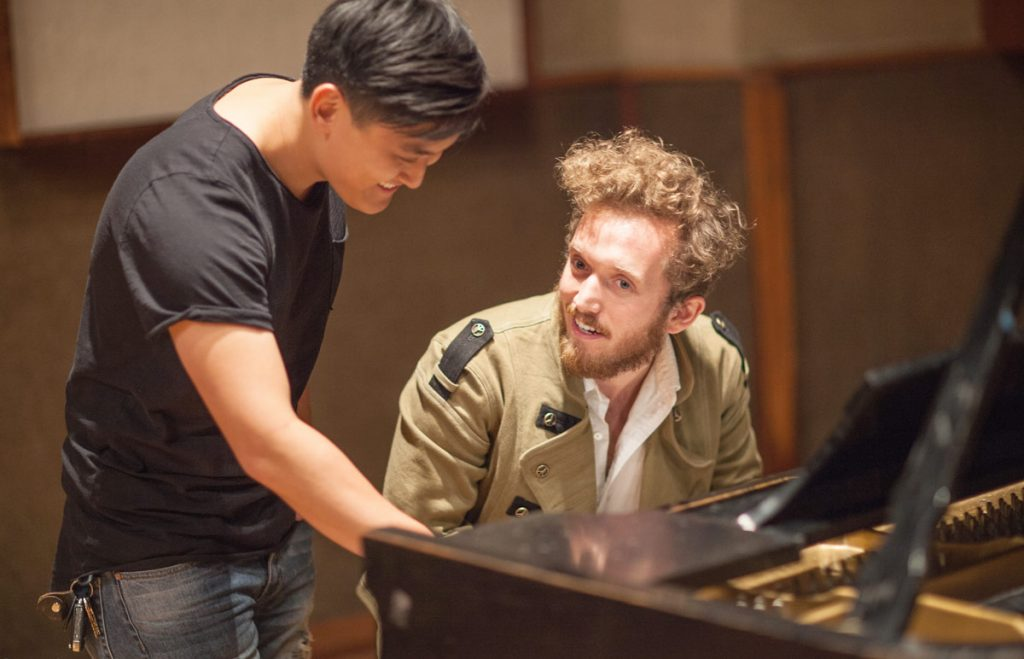Popular Music students Sam Yun and Cooper Bell.