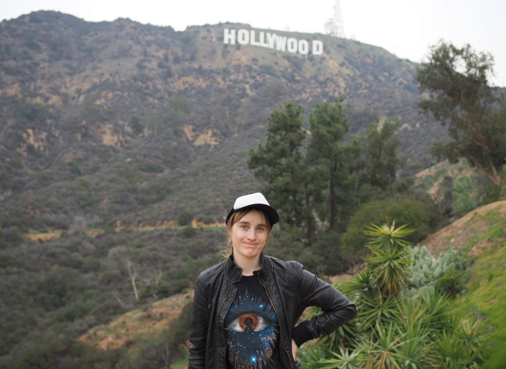 Veera Vallinkoski: Here I am in front the Hollywood sign. It was my last day as a tourist before the start of school. (Swipe for more of my photos!)