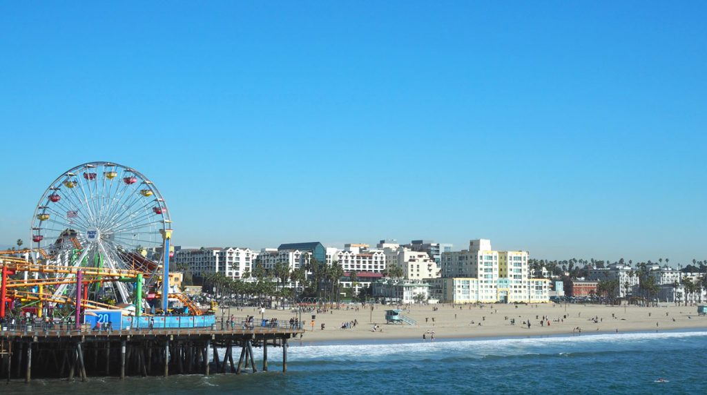 The famous Santa Monica boardwalk.