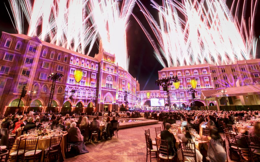 The spectacular conclusion of the USC Village Gala. (All photos by Gus Ruelas and David Sprague)