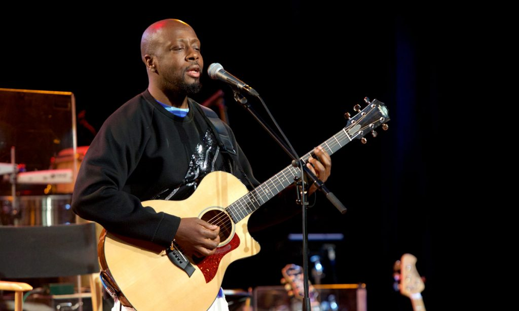 Finally, Wyclef Jean stepped in to jam with the band.