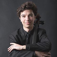 formal portrait of cellist Gabriel Martins