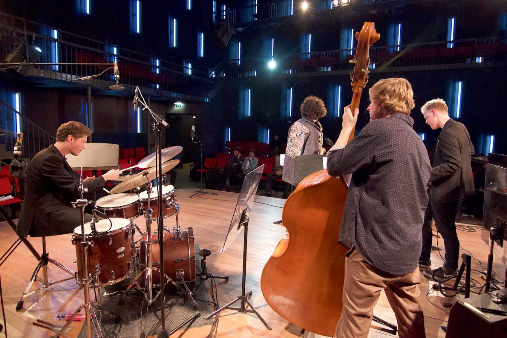The visit culminated with a performance of student quartets and quintets at the Amsterdam Blue Note, a dedicated venue at the Conservatorium van Amsterdam. (Performance photos by Abhishek Mangla)