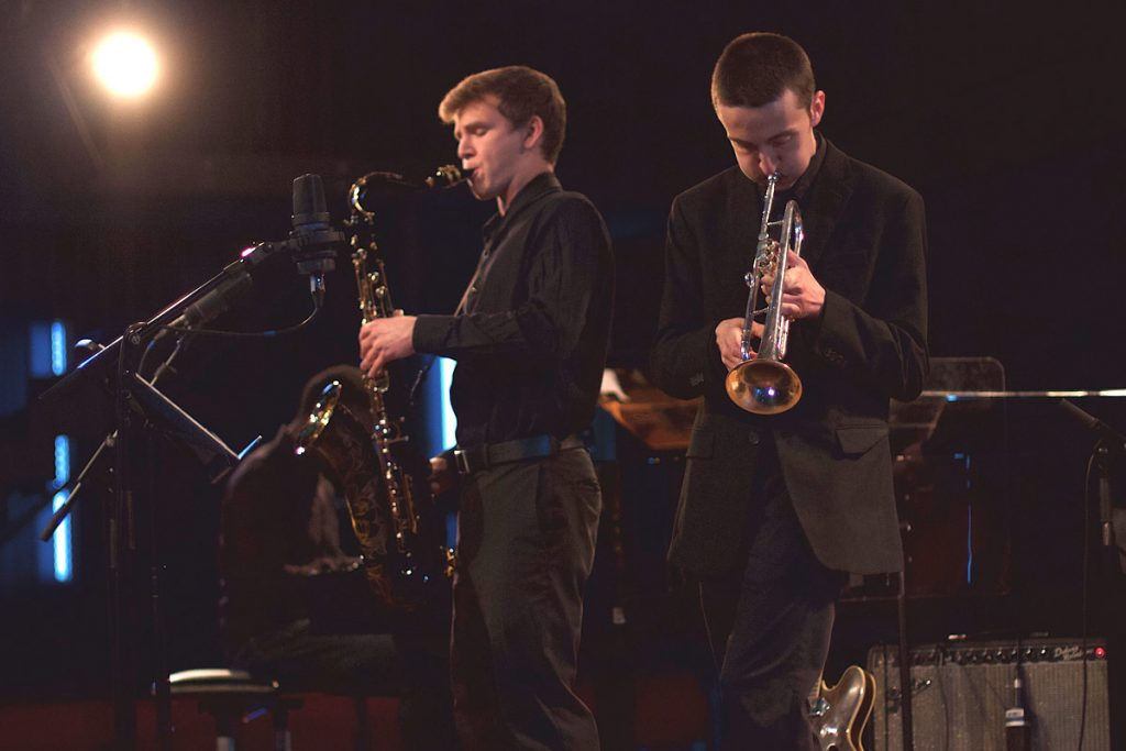 And Ethan Chilton (trumpet), Clinton Blakeley (saxophone), Ranit Barlas (bass), Paul Cornish (piano), and Dutch student Tim Hennekes (drums) were the Space Cadets.
